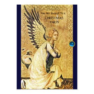 ANNUNCIATION ANGEL MONOGRAM ,Blue Sapphire Card
