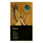 ANNUNCIATION ANGEL MONOGRAM, Blue Sapphire Gold Business Card Template
