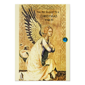 ANNUNCIATION ANGEL MONOGRAM ,Blue Sapphire ,Gold Card