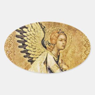 ANNUNCIATION ANGEL Monogram Oval Sticker
