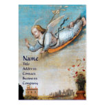 ANNUNCIATION ANGEL MONOGRAM Pearl paper Business Card