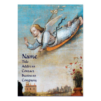 ANNUNCIATION ANGEL MONOGRAM Pearl paper Large Business Card