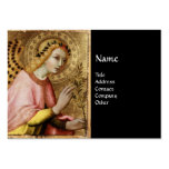 ANNUNCIATION ANGEL MONOGRAM, Red Ruby Large Business Cards (Pack Of 100)