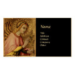 ANNUNCIATION ANGEL MONOGRAM, Red Ruby Gold Double-Sided Standard Business Cards (Pack Of 100)