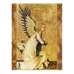 ANNUNCIATION ANGEL Parchment Postcard