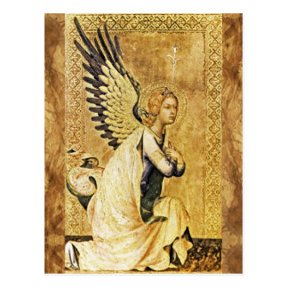 ANNUNCIATION ANGEL Parchment Post Card