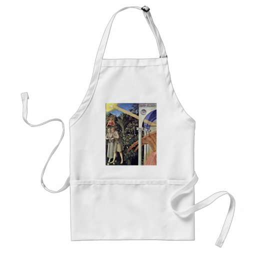 Annunciation  By Angelico Fra Apron
