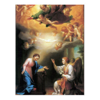 Annunciation by Anton Raphael Mengs Postcard