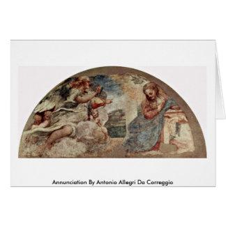 Annunciation By Antonio Allegri Da Correggio Cards