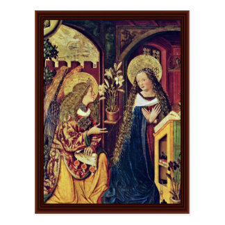Annunciation By Bayerischer Meister Postcard