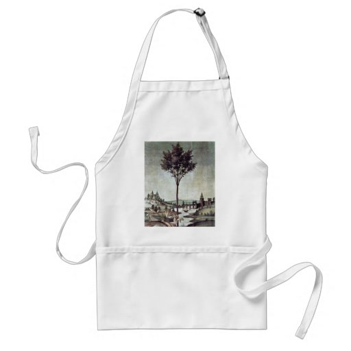 Annunciation  By Botticelli Sandro (Best Quality) Apron