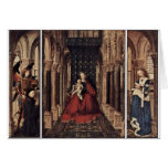 Annunciation By Eyck Jan Van (Best Quality) Greeting Cards