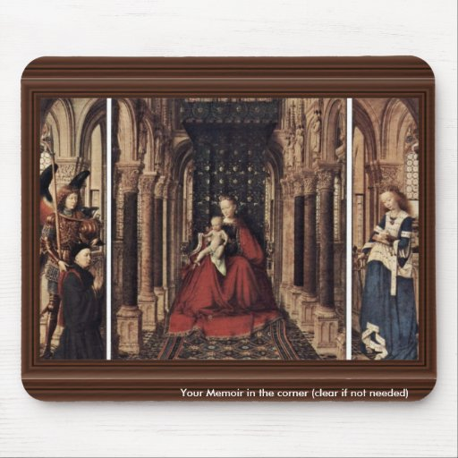 Annunciation By Eyck Jan Van (Best Quality) Mousepad
