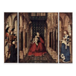 Annunciation By Eyck Jan Van (Best Quality) Post Cards