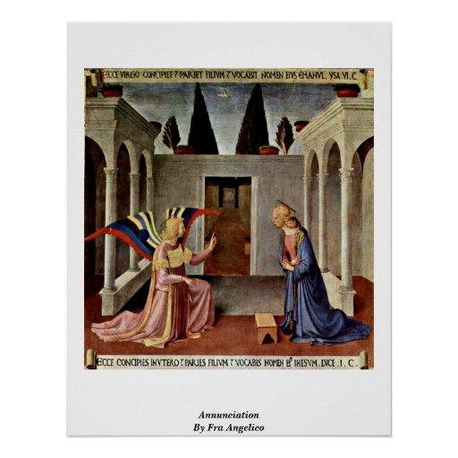 Annunciation By Fra Angelico Poster