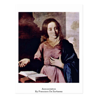Annunciation By Francisco De Zurbaran Postcard