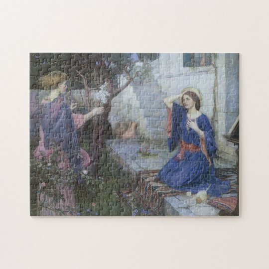 Annunciation by JW Waterhouse, Victorian Fine Art Jigsaw Puzzle