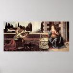 Annunciation by Leonardo di ser Piero da Vinci Poster