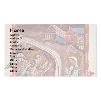 Annunciation By Meister Des Hitda-Evangeliars (Bes Double-Sided Standard Business Cards (Pack Of 100)