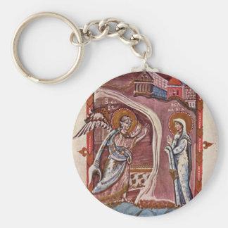 Annunciation By Meister Des Hitda-Evangeliars (Bes Keychain