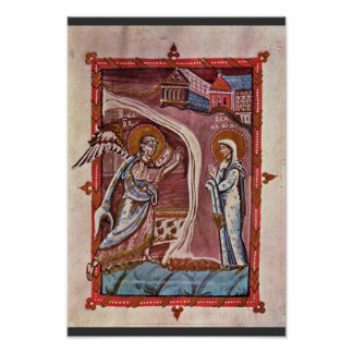 Annunciation By Meister Des Hitda-Evangeliars (Bes Posters