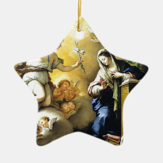 Annunciation by Paolo de Matteis, 1712. Christmas Tree Ornament