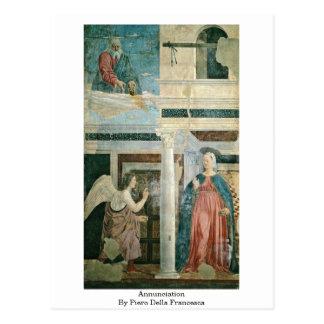 Annunciation By Piero Della Francesca Postcard