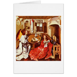 Annunciation By Robert Campin Greeting Cards