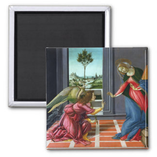 Annunciation by Sandro Botticelli 2 Inch Square Magnet