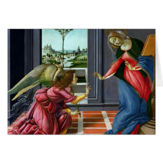 Annunciation by Sandro Botticelli Card