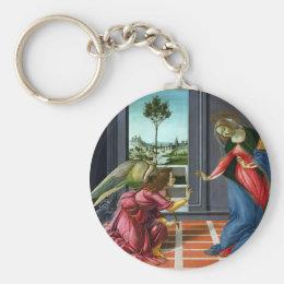 Annunciation by Sandro Botticelli Keychain