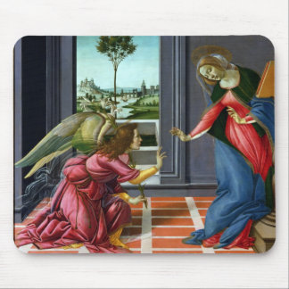 Annunciation by Sandro Botticelli Mouse Pad