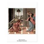 Annunciation By Sandro Botticelli Postcard