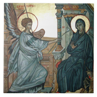 Annunciation - Byzantine Icon Tile