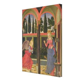 Annunciation, c.1457 (tempera on panel) canvas print