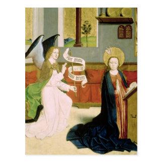 Annunciation c 1470-80 postcard