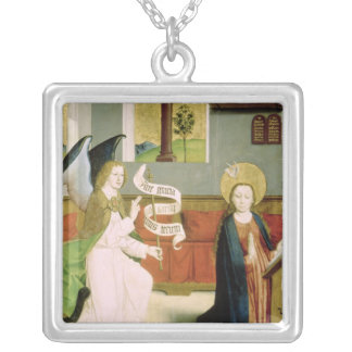 Annunciation, c.1470-80 silver plated necklace