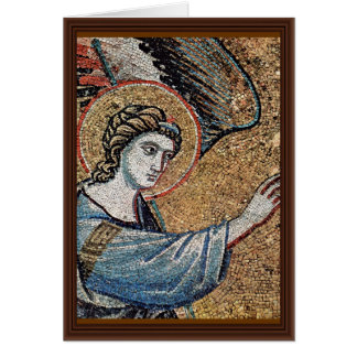 Annunciation Detail By Pietro Cavallini Greeting Card