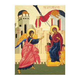 Annunciation Icon Stretch Wrap Canvas