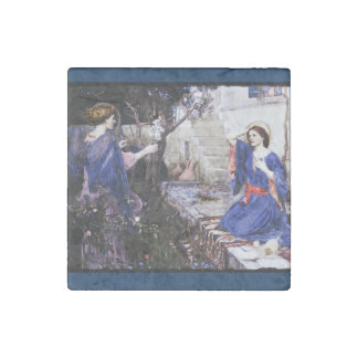 Annunciation in Deep Blue Stone Magnet