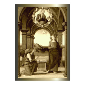 """Annunciation of Blessed Virgin Mary 5"""" X 7"""" Invitation Card"""