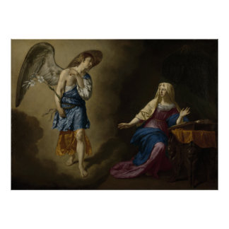 Annunciation of Mary, Velde Poster