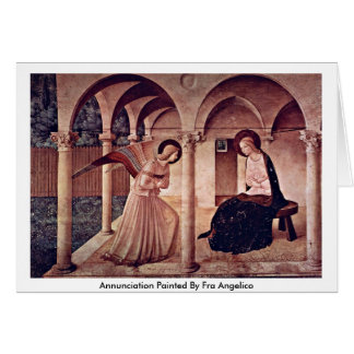 Annunciation Painted By Fra Angelico Greeting Card
