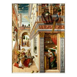 Annunciation ,Saint Emidius and an UFO Postcard