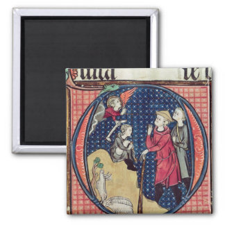 Annunciation to the Shepherds 2 Inch Square Magnet