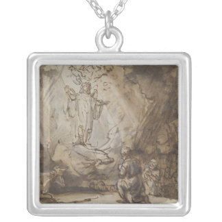 Annunciation to the Shepherds Square Pendant Necklace