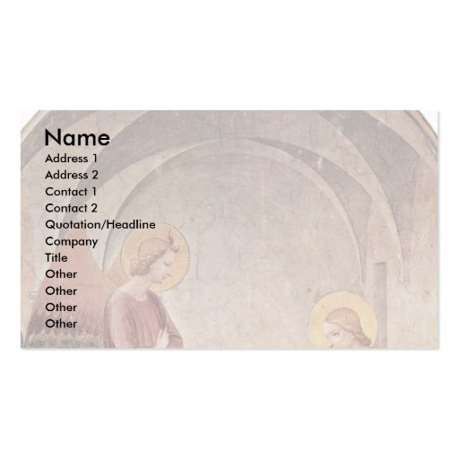 Annunciation With St. Dominic By Fra Angelico Double-Sided Standard Business Cards (Pack Of 100)