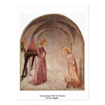 Annunciation With St. Dominic By Fra Angelico Post Card