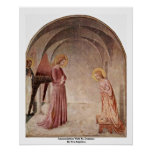 Annunciation With St. Dominic By Fra Angelico Posters