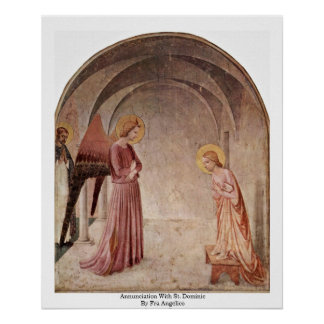 Annunciation With St. Dominic By Fra Angelico Poster